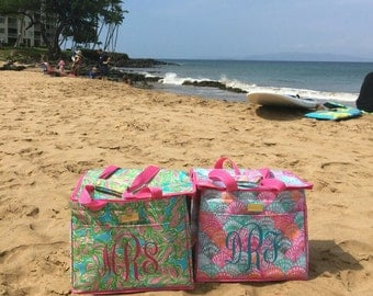 Monogrammed Lilly Pulitzer Insulated Beach Cooler