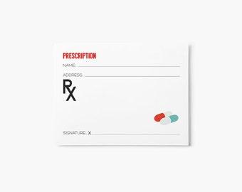 Kids Doctor Prescription Sheet Printable - Dramatic Play - Doctor Party Printables - Party Favor Kids - Classroom Printables - Kids Activity