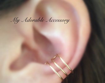 Triple Conch Wire Ear Cuff, Ear Cuff