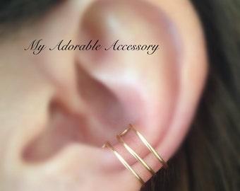 Triple Conch Wire Ear Cuff, Ear Cuff