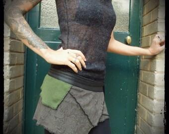 Belt strap skirt