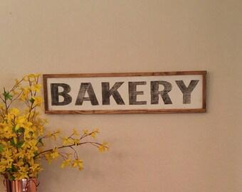 Farmhouse Style, Farmhouse Decor, Kitchen Sign, Wood Bakery Sign, Bakery Sign, Distressed Wood Sign, Kitchen Wall Decor, Rustic Wood Sign