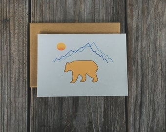 Mountain Note Card Set, Note Cards for Men, Blank Note Cards for Men