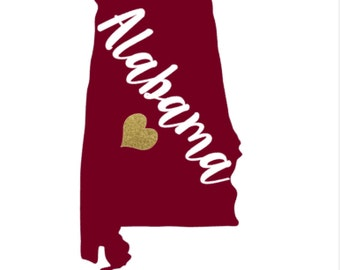 Alabama crimson tide decal etsy for Alabama football mural