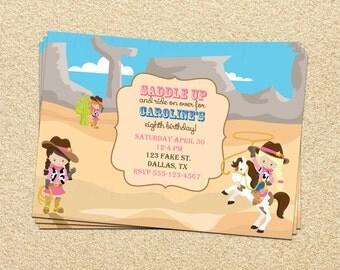 SALE 50% OFF Custom Cowgirl Invitation