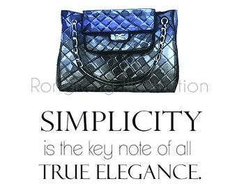 Chanel bag illustration,Fashion illustration,Fashion wall art,Fashion Poster,Classic Chanel art,Bridesmaid gift,Dressing room art