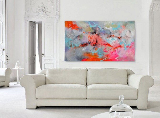 large abstract art modern art canvas living room decor fine