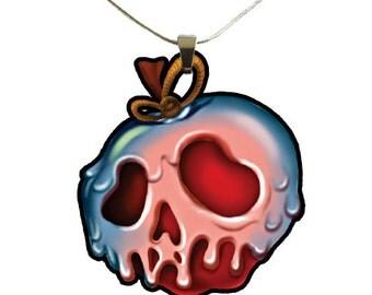 Snow White Poison Apple Necklace
