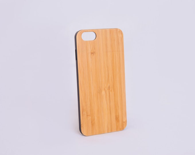 Custom Cell Phone Case, iPhone 6 6+ iPhone 5 5s, Bamboo Engraved Phone Cover, Wood Phone Case, Personazlied Phone Case
