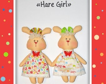 Hare Toy Pattern. Soft toy pattern and tutorial. Hare pattern