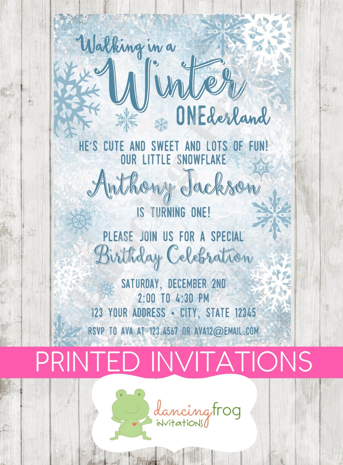 Winter Onederland Birthday Invitations for amazing invitation ideas