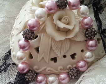 Pink and White South Sea Pearl Bracelet