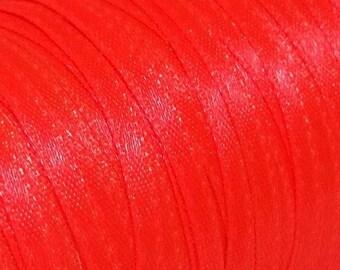 1 x 4 Metre Satin 3 mm Bright Orange Ribbon, Skinny Ribbon Bright Orange 3 MM Satin Ribbon, Ribbon Bright Orange, 3 mm Ribbon, Narrow Ribbon