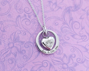 Dog Memorial - Loss of Dog - Silver Stainless Pendant - Cremation Jewelry - Engraved Jewelry - Urn Necklace - Pet Memorial - Ash Necklace