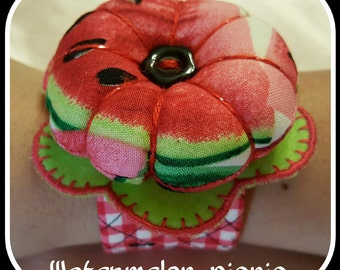 Flower Wrist Pin Cushion - Watermelon Picnic