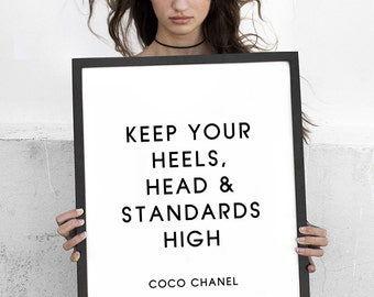 Coco Chanel, Wall Art, Inspirational Print, Quote Poster, Wall Art, Fashion Poster, Wall decor, Typography Art, ArtFilesVicky