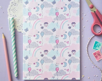 Cute Pastel Notebook - Enjoy The Little Things Collection - Blank A5