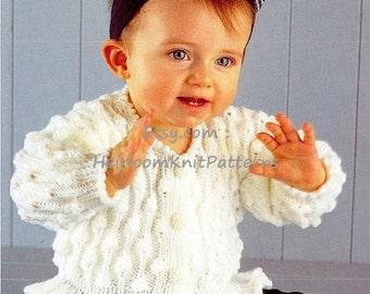 Girls Jacket Vintage Knitting Pattern 16-28'' DK/ 8ply Baby Toddler Girls Child's Jacket Vintage Knitting Pattern Instant Download PDF - 163