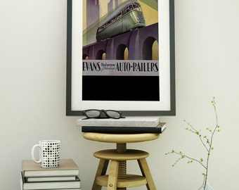 VINTAGE ART DECO Poster Print  Vintage Wall Art Old Style Advertising Posters Canvas Wall Decor Railway Poster Art Deco Style Posters Color