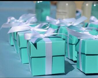 Turquoise/ Robins Egg/ Aqua Favor Boxes