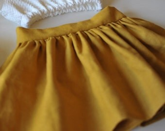 Mustard Linen Skirt