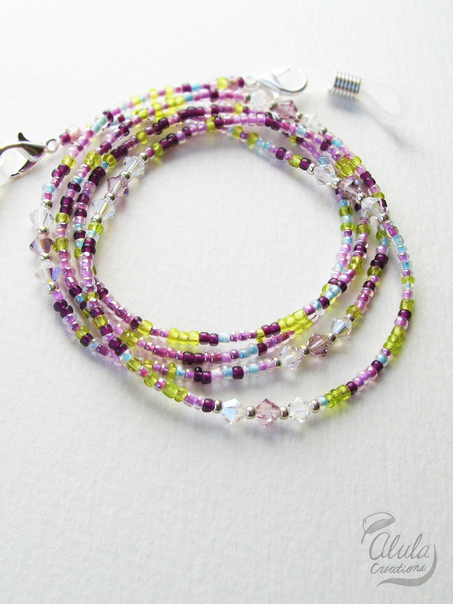 eyeglass holder necklace reading glasses chain swarovski