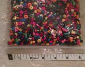 Multi Colored Wooden Beads