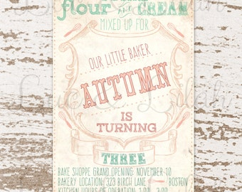 Make a Whisk!  Bake Shop / Bake Shoppe / Bakery Party Invitation!