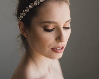 Gold Bridal Headband | Gold Wedding Headband | Gold Wedding Head Piece | Gold Bridal Hair Accessories | THE DAISY