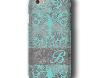 Vintage wallpaper Damask iPhone 6s case, Personalized,Turquois Samsung Galaxy case, iPhone 6 plus, iPhone 5s case, Samsung Galaxy S6 Edge