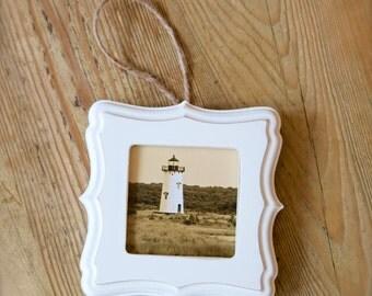 Vintage Edgartown Lighthouse ~ Martha's Vineyard, Christmas, Ornament, Gift, Artwork, Nautical, Wall Art, Coastal Home Decor, Photograph