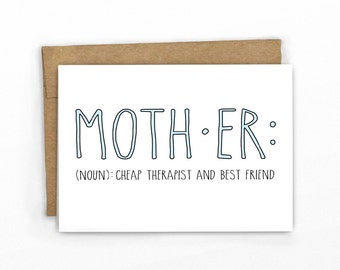 Card for Mom ~ Mom Definition by Cypress Card Co.