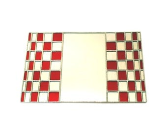 Stained Glass Mirror - Chequerboard - 21cm x 32cm