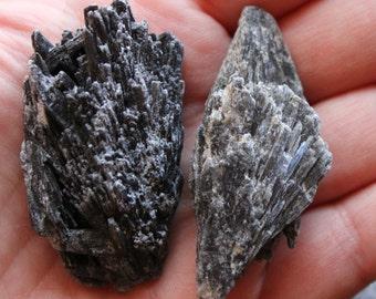 Black Kyanite Blade Pair, Black Kyanite Pair, Kyanite