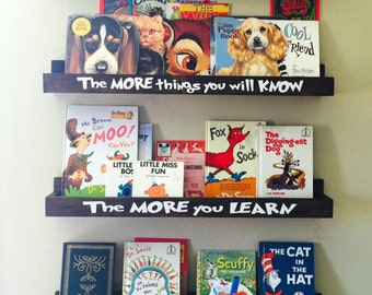 Dr Seuss Book Shelves - Floating Book Ledge - Book Ledges - 30