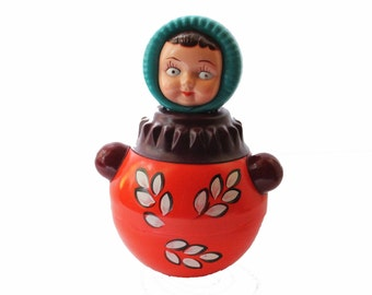 Roly Poly Doll Nevalyashka Doll  Old Soviet Vintage Toy Collectible Doll Soviet Doll Roly Poly Ding Doll Gift For Kids