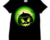 Halloween Pumpkin Face Fancy Dress Unisex Childrens TShirt