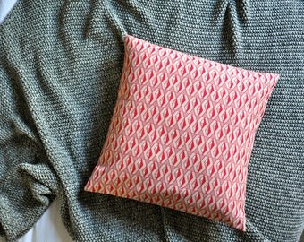 Red Geometric Outdoor Cushion Cover