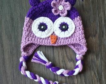 Crochet Owl Hat/Newborn/Photo Prop/Owl/Toddler/Adult/Baby/owl hat