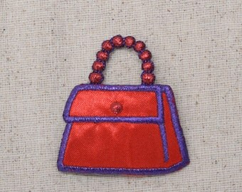 Purse - Red Hat Society Inspired - Handbag - Iron on Applique - Embroidered Patch - 692680-A