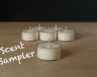 6pk Scent Sampler Soy Tealights
