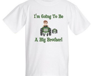 Big Brother Baby Announcement - Tractor with Boy T-Shirt (VP)
