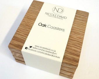 Oak Coasters - Set of 4
