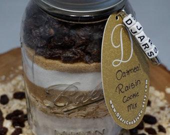 Oatmeal Raisin Cookies - Mason Jar Cookie Mix