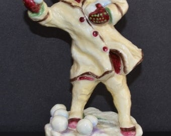 Royal Worcester Figurine Month's of the Year DECEMBER 3458 Freda Doughty Artist Fine Bone China Porcelain Child Figure