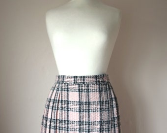 Vintage Check Plaid Tartan Kilt Skirt, 1990s, Nineties, High-waisted, Mini Skirt, Preppy, Mod, Clueless