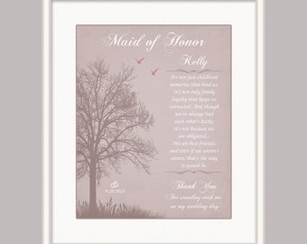 Maid of Honour Gift - Personalized Wedding Gift - Sister Bridesmaid Gift - Rehersal Dinner Gift - Wedding Gift for Sister - Matron of Honour