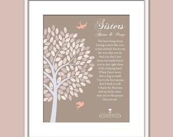 Personalized Sister Gift Print - Sister Keepsake - Sister Sign - Sister Card