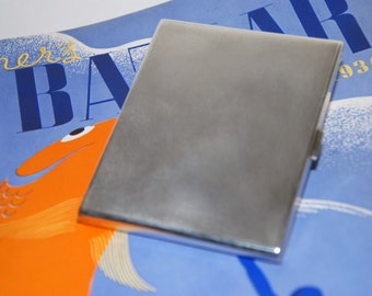 Genuine Vintage 1929 English Sterling Silver Cigarette Case by Mappin & Webb -- Free Shipping!
