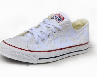 converse wedding shoes lace sneakers wedding shoes with lace off white lace converse bridal white shoes